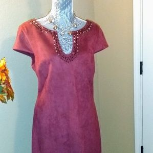 NWT Vince Camuto Faux Suede Dress